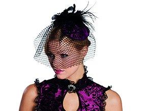 Saloon Kostüm Bilder Girl - Rubies Saloon Girl Haarreif lila Halloween 4130478