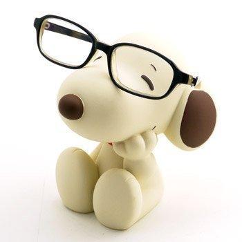 Snoopy Brillen Ständer: Beige / Braun