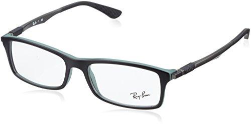 Rayban Herren Brillengestell RX7017, Schwarz (Top Black On Green), 52