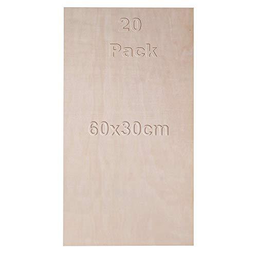 Madera contrachapada abedul paquete 20 - 60 x 30 cm