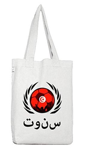 Tunisia Football Wm Fanfest Groups Juta Borsa Panno Borsa Terra Positivo Calcio Tunisia Bianco