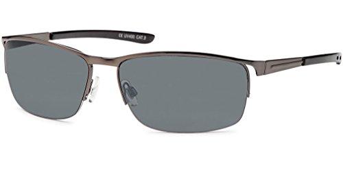 UVprotect leichte und robuste metall Herren Sport Sonnenbrille Outdoor schwarz anthrazitfarbenes Gestell W47-1