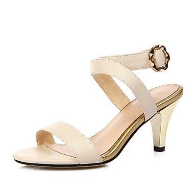 LvYuan scarpe del club sandali primavera estate delle donne del partito di vacchetta&abito da sera beige