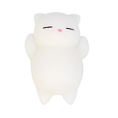 PINEsong Nette Mochi Squishy Tier Squeeze Healing Fun Kinder Kawaii Spielzeug Stress Reliever Dekor (Weiß & Grau) (Nette Kostüme Kreative)