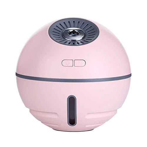 ZLZZY 300ml ätherisches Öl Diffusor, Premium Ultraschall Aromatherapie Duftöl Diffusor Verdampfer Luftbefeuchter, Timer und wasserfreies Auto-Off (Farbe : Rosa) - Premium Duftöl Diffusor