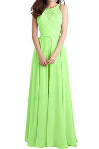 ivyd ressing robe populaire dentelle et mousseline de longueur A ligne Prom robe fixe Soirée Party robe robe Vert - Vert