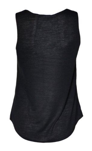 (womens sleeveless mouse dope vest top (m8) Femmes sans manches souris dope dessus de gilet noir