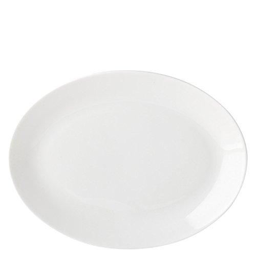 Utopia Anton Noir en porcelaine fine Z03025-000000-b01006 Assiette ovale, 21 cm (lot de 6)