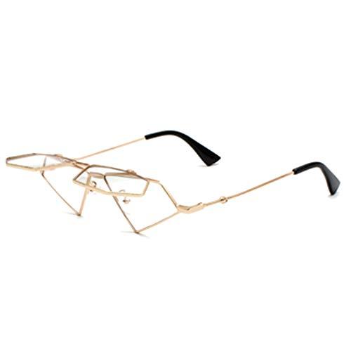 MUCHAO Frauen Harajuku Stil Flip Sonnenbrille Hip Hop Retro dekorative Brille Rahmen Pop Brille Sonnenbrille
