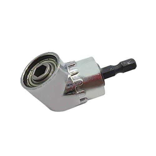 Meisijia Silber, 105 Grad Winkelbohrmaschinen Verl?ngerung Shank Drilling Corner Schraubendreher Schnellwechsel-Sechskantschaft