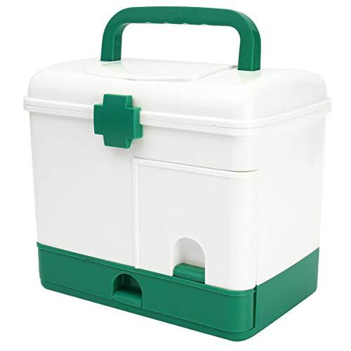 SMEI Haushalt 3 Schicht Medizin Schublade Health Box Erste-hilfe-kit Lagerung Bin Organizer Medizinische Modell Fall Tragbare Große Kapazität (Bin Lagerung Möbel)