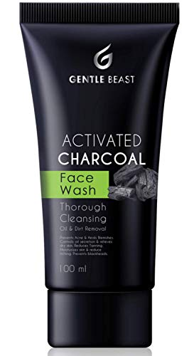 Gentle Beast Premium Activated Charcoal Face Wash for All Skin Types | Prevents Acne, Controls Oil Secretion & Removes Tanning