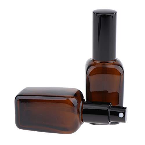 FLAMEER 2pcs Apotheker-Sprühflasche aus Braunglas Zerstäubereffekt Fingerzerstäuber Sprühflaschen Pumpsprüher kleine Glasflaschen Parfümzerstäuber - 50 ml