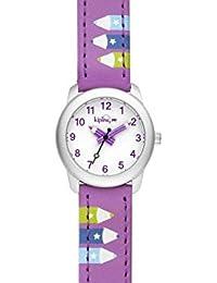 Kipling Niños Reloj Púrpura Correa de piel con púrpura lápiz k9400606