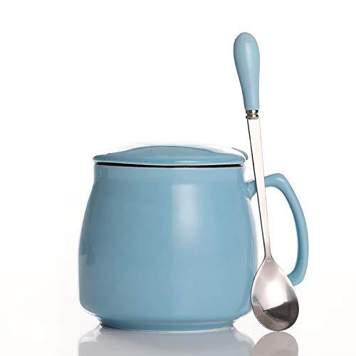 SGSDCup Keramikbecher Becher Mit Deckel Löffel Paar Frühstück Tasse Milch Tasse Haushalt Kaffeetasse Großes Glas