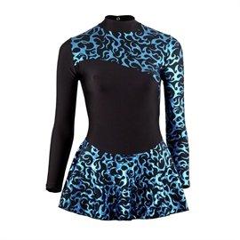 Starlite vestito con stampa per pattinaggio sul ghiaccio Black/Blue 4 anni