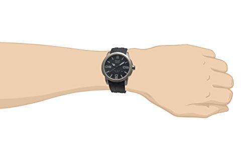 Davis 1890 - Reloj deportivo para hombre Phantom 46mm, sumergible 100M, correa de caucho color negro