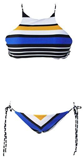 erdbeerloft - Damen Classic Stripe Bikini , L, Mehrfarbig (Tankini Classic)