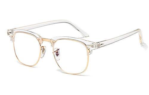 TYJMENG Sonnenbrillen Frauen Vintage Style Brillen Männer Optische Mode Brille Retro Gafas Mode Lentes Feminino, Transparent W Klar