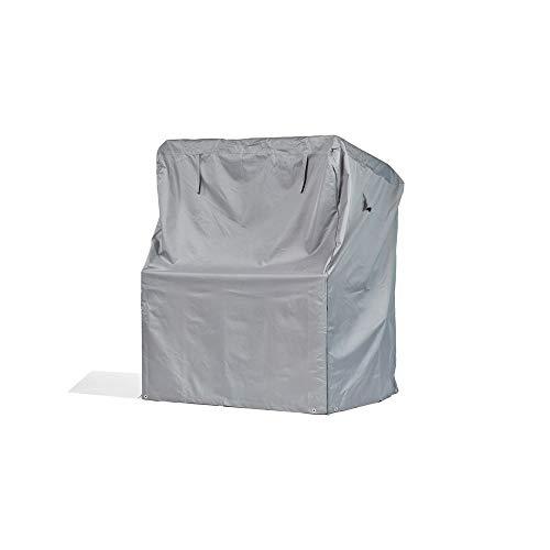 Premium Schutzhülle für Strandkorb aus Polyester Oxford 600D - lichtgrau - von \'mehr Garten\' - Größe XXL (Breite: max. 165cm)