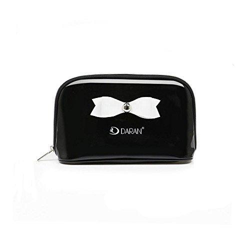 Meeya Cosmétique Sac Portable étanche Cosmetic Pouch Trousse de toilette/Dessus en PVC à fermeture Éclair Organiseur Mallette de maquillage Sac à main avec nœud pour femme Filles
