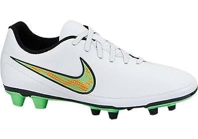 Nike Men's Magista Ola Fg White,Poison Green,Black,Total Orange  Football Boots -10 UK/India (45 EU)(11 US)