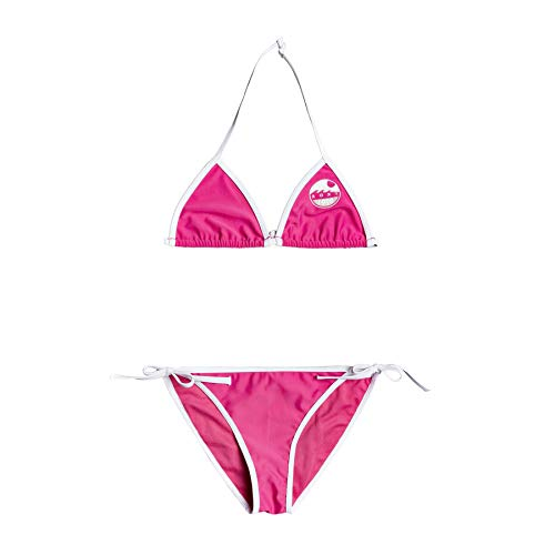 Roxy Early Conjunto De Bikini Tiki Tri para Chicas 8-16, Niñas, Pink Flambe, 10