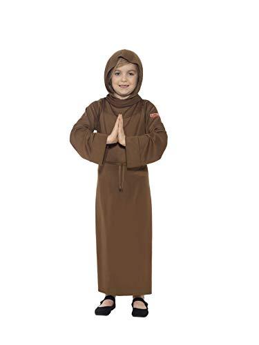 Smiffys 25917M - Horrible Histories Mönch Kostüm mit Tunika angeschnittene Kapuze und Gürtel, braun