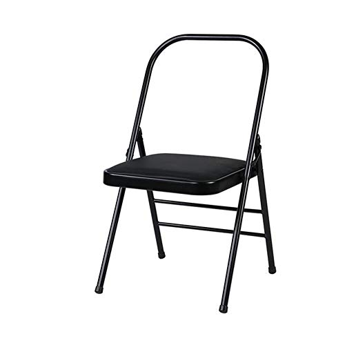 Möbelsets-LX Klappstuhl, Yoga-rückenfreier Standard-Hilfspraxis-Körperaktivitätsstuhl Faltbarer umgedrehter Multifunktionsständer (Farbe : Schwarz)
