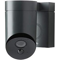 Somfy 2401563 - Outdoor Camera - Caméra de Surveillance Extérieure Wifi - 1080p Full HD - Sirène 110 dB - Branchement Possible sur Luminaire Existant
