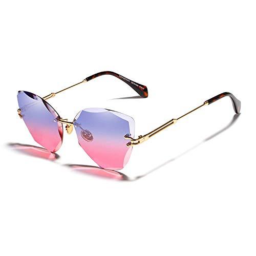 WERERT Sportbrille Sonnenbrillen Designer Fashion Ladies Sun Glasses Rimless Women Sunglasses Vintage Alloy Frame Classic Designer Shades