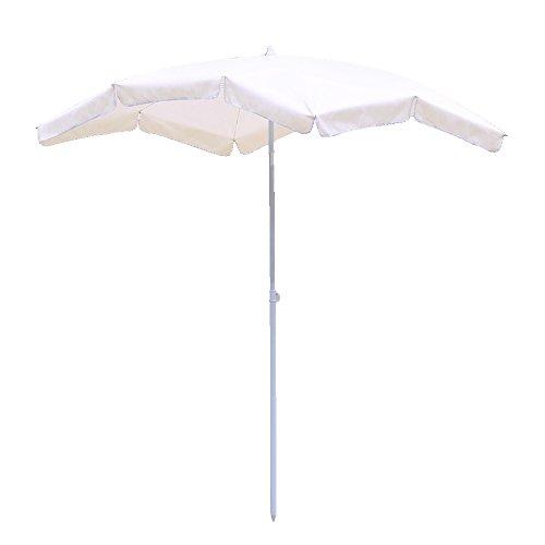 Hengda® Parasol Parasol de jardin pare-soleil 2*1.55m Beige UV protectio Anti-Vent parapluie-étanche Suspendu parapluie-étanche Jardin Extérieur Plage Inclinable