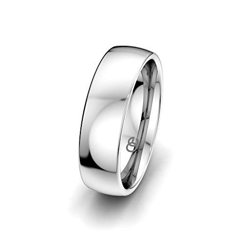 Moncoeur Eheringe Classic Wedding + 925 Sterling Silber Bandring unisex + klassische Trauringe + Partnerring + Silberring + Verlobungsring + Comfort-Fit + Luxusetui...