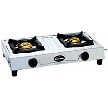 sunflame 2 burner gas stove stainless steel