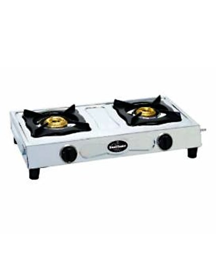 Sunflame Shakti Stainless Steel 2 Burner Gas Stove, Silver