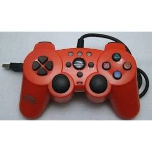 Woopso Wired Controller RED Manette Console compatible Sony PlayStation 3