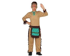 Atosa-23773 Disfraz Indio, color marrón, 3 a 4 años (23773)