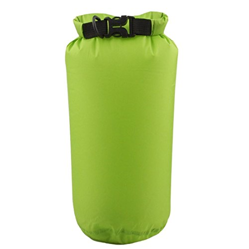 Wasserdicht Kompressions Packsack - LUCKSTONE 8L Wasserdicht Trocken Sack Lightweight Kompression Tasche fuer Bootfahren Kajak Rafting Kanu (Gruene Frucht)