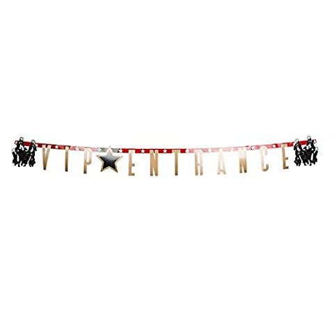 170 cm VIP ENTRANCE Hanging Banner Bunting Decoration