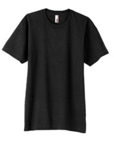 Anvil 980 4.5 oz. Ringspun Cotton Short-Sleeve T-Shirt S Black - Anvil Short Sleeve T-shirt