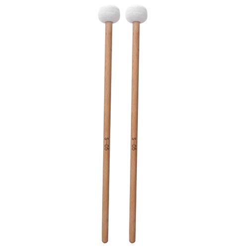 2Pare rullante Timpani Stick Mallet Soft Mall in feltro con manico in legno per accessori per strumenti a percussione