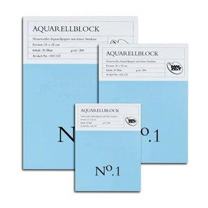 Malzeit Aquarellblock No.1, 20 Blatt, 200 g fein, 30 x 40 cm