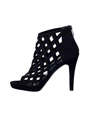 Tamaris Schuhe 1-1-28388-38 bequeme Damen Sandalette, Sandalen, Sommerschuhe für modebewusste Frau, Black
