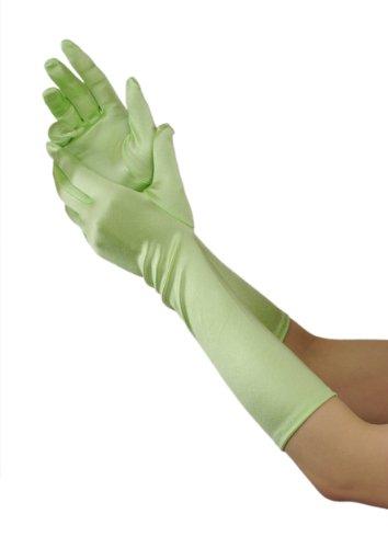 Efashionsquare Damen Elegante Unter Elbogen Handschuhe (Handschuhe Nylon Lange Grün)