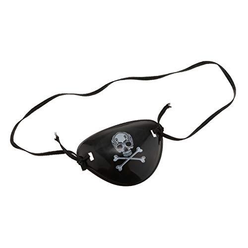 Baoblaze Piraten Augenklappe Augenmaske Eye Patch mit Totenkopf Muster für Halloween Karneval und Party
