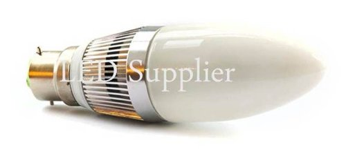2 x 4W B22 culot à baïonnette LED ampoule bougie spécial pour Chandeliers/Candélabres, blanc chaud 3200k, Offres spéciales disponibles