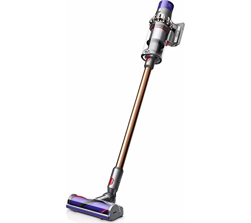 Dyson V10 Absolute + Akku-Staubsauger, 525 W, 2.67 kg, bis zu 60 Minuten Laufzeit, 3 Leistungsstufen, waschbarer Filter, Bordwerkzeug Flexi Crevice Tool, Crevice Tool, Combination Tool, Mini Motorized Tool, Soft Roller Cleaner Head, Iron / Sprayed Nickel / Kupfer