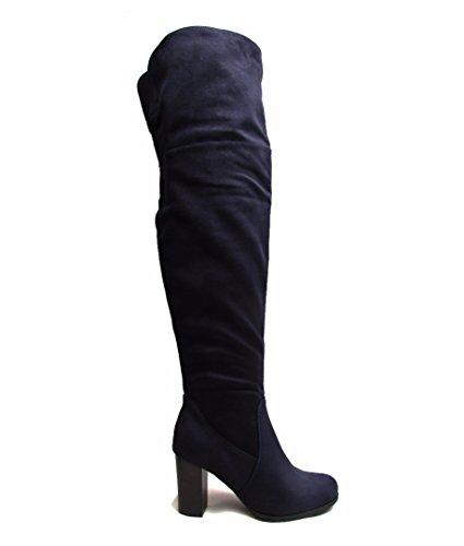 MAYLINE , Mocassins pour femme 35.5 Bleu Marine