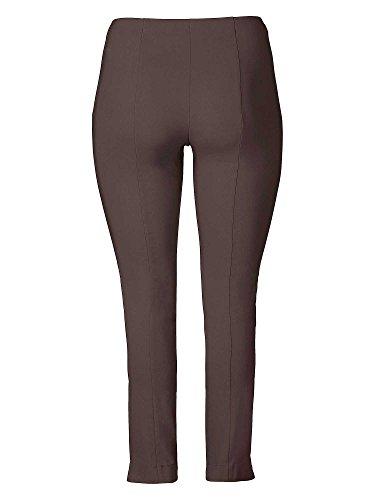 "Sheego Damen Hose Basic Bengalin-stretchhose ""Schlupfbund"" Braun (Dunkelbraun)"
