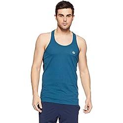 Chromozome Men's Plain Regular Fit T-Shirt CP 1_Atlantic-Black_M